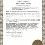 Akt założycielski LLC w Delaware - Certificate of Formation