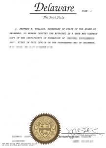 Apostille de La Haye dla spółki LLC z Delaware
