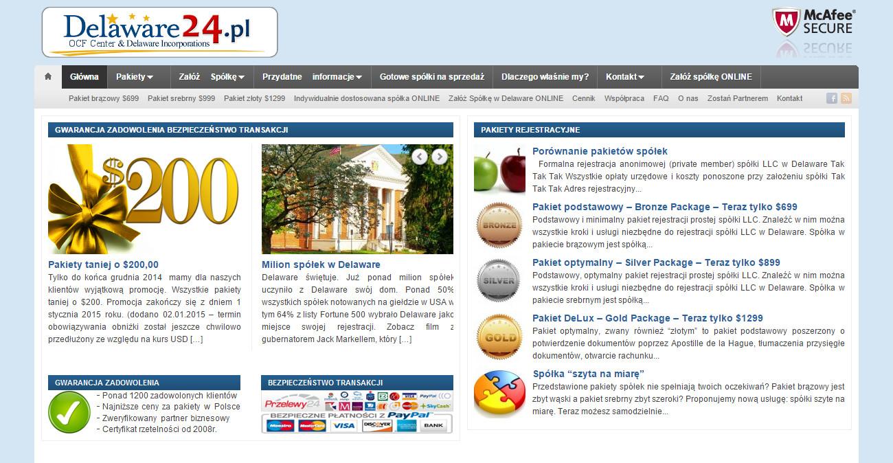 Nowa wersja strony Delaware24.pl